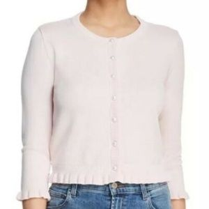 Karl Lagerfeld Paris Pink Lace Ruffle Cardigan New